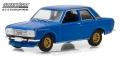 [予約]グリーンライト 1/64 Tokyo Torque Series 2 - 1968 ダットサン 510 Street Racer - ブルー with ゴールドホイール