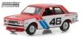 [予約]グリーンライト 1/64 Tokyo Torque Series 2 - 1971 ダットサン 510 - #46 Brock Racing Enterprises (BRE) - John Morton