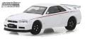 [予約]グリーンライト 1/64 Tokyo Torque Series 2 - 2001 日産 スカイライン GT-R (R34) - ホワイトパール