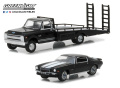 グリーンライト 1/64 1970 Chevy C-30 Ramp Truck with 1971 Chevrolet Camaro Z/28