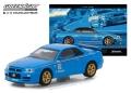 """グリーンライト 1/64 BFグッドリッチ ヴィンテージ 宣伝カー 日産 スカイライン GT-R(R34) 2001 """"Track Meat"""""""