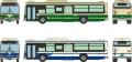 [予約]トミーテック 1/150 ザ・バスコレクション 名古屋市交通局 市バス90周年2台セット