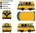 [予約]M2 Machines 1/64 1960 VW Delivery Van - School Bus Yellow