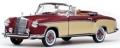 [予約]SunStar(サンスター) 1/18 メルセデス・ベンツ 220 SE オープン コンバーチブル 1958 レッド/クリーム