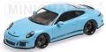 [予約]MINICHAMPS (ミニチャンプス) 1/43 ポルシェ 911 R 2016 ガルフブルー/ブラックロゴ
