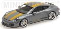 [予約]MINICHAMPS(ミニチャンプス) 1/43 ポルシェ 911 R 2016 ナルドグレー/イエローストライプ/ブラックサイドライン &イエローロゴ