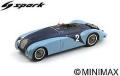 [予約]Spark (スパーク) 1/43 ブガッティ 57 G No.2 Winner 24H ル・マン 1937 J.-P.Wimille/R.Benoist ※再生産