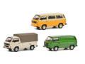 """[予約]Schuco(シュコー) 1/43 フォルクスワーゲン T3 セット """"40 years VW T3"""" (バス、ピックアップ、ボックスバン3台セット)"""