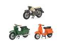 [予約]Schuco(シュコー) 1/43 バイクセット 2020 シュワルベ KBS1, ベスパPX, クライドラー フローレット