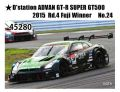 EBBRO (エブロ) 1/43 ★D'station ADVAN GT-R SUPER GT500 2015  Rd.4 Fuji Winner No.24