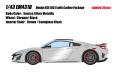[予約]EIDOLON (アイドロン) 1/43 ホンダ NSX(NC1) カーボンパッケージ 2016 ソースシルバーメタリック (インテリア : ブラック/ブラウン) ※限定30台