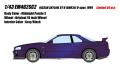 [予約]EIDOLON (アイドロン) 1/43 日産 スカイラインGT-R (BNR34) V-spec 特別限定車 2000 ミッドナイトパープル3 ※限定50台