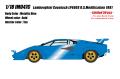 [予約]IDEA(イデア) 1/18 ランボルギーニ カウンタック LP400S US モディフィケーション 1981  メタリックブルー (タンインテリア) (限定50台、国内販売数25台)