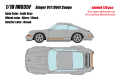 [予約]IDEA(イデア) 1/18 シンガー 911 (964) クーペ ライトグレー (限定120台、国内販売60台)