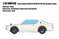 [予約]VISION (ヴィジョン) 1/43 日産 スカイライン 2000 GT-R (KPGC110) 1973 (RSワタナベ 8スポークホイール)  ホワイト