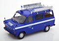 [予約]KK Scale 1/18 Ford Transit Bus 1965-1970 THW Germany with roof rack, darkblue/white