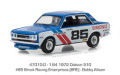 グリーンライト 1/64 Tokyo Torque Series 3 - 1972 ダットサン 510 - #85 Brock Racing Enterprises (BRE) - Bobby Allison