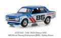 グリーンライト 1/64 Tokyo Torque Series 3 - 1972 ダットサン 510 - #85 Brock Racing Enterprises (BRE) - Bobby Allison