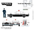 Tarmac(ターマック)× グリーンライト 1/64 Japanese Police 1971 日産 スカイライン 2000 GT-R ※警官フィギュア1体 付属