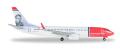 "herpa wings 1/500 737-800 ノルウェーエアシャトル LN-DYC ""Max Manus"""