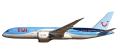 herpa wings 1/200 787-8 TUI航空 (ジェットエアフライ) ※プラスチック製、スナップフィット
