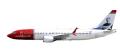 """[予約]herpa wings 1/200 737 MAX 8 ノルウェーエアシャトル EI-FYA """"Sir Freddie Laker"""" ※プラスチック製、スナップフィット"""