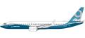 [予約]herpa wings 1/200 737 MAX 9 ボーイングハウスカラー N7379E ※プラスチック製、スナップフィット
