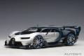 AUTOart (オートアート) コンポジットダイキャストモデル 1/18 ブガッティ ビジョン グランツーリスモ (メタリック・シルバー/ブルー・カーボン)