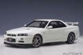 AUTOart (オートアート) コンポジットダイキャストモデル 1/18 日産 スカイライン GT-R (R34) Vスペック II (ホワイトパール)