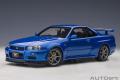 AUTOart (オートアート) コンポジットダイキャストモデル 1/18 日産 スカイライン GT-R (R34) Vスペック II (ベイサイドブルー)