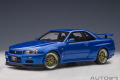 """AUTOart (オートアート) コンポジットダイキャストモデル 1/18 日産 スカイライン GT-R (R34) Vスペック II """"BBS LM ホイール・バージョン"""" (ベイサイドブルー)"""