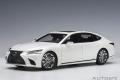 AUTOart (オートアート) コンポジットダイキャストモデル 1/18 レクサス LS500h (メタリック・ホワイト ※インテリア・カラー/クリムゾン&ブラック)