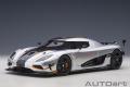 [予約]AUTOart (オートアート) コンポジットダイキャストモデル 1/18 ケーニグセグ アゲーラ RS (メタリック・シルバー/カーボンブラック)