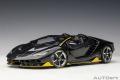 [予約]AUTOart (オートアート) コンポジットダイキャストモデル 1/18 ランボルギーニ チェンテナリオ ロードスター (カーボン・ブラック/イエロー・アクセント)