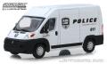グリーンライト 1/43 2018 Ram ProMaster 2500 Cargo High Roof - Ram Law Enforcement Police Transport Vehicle
