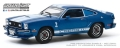 [予約]グリーンライト 1/43 1976 Ford Mustang II Cobra II - Blue with White Stripes
