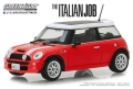 グリーンライト 1/43 The Italian Job (2003) 『ミニミニ大作戦』- 2003 Mini Cooper S - Red with White Stripes