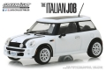 [予約]グリーンライト 1/43 The Italian Job (2003) 『ミニミニ大作戦』 - 2003 Mini Cooper - White with Black Stripes