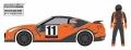 [予約]グリーンライト 1/64 The Hobby Shop Series 2 - 2011 日産 GT-R(R35) with Race Car Driver