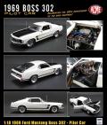 [予約]ACME 1/18 1969 Ford Mustang Boss 302 - Pilot Car