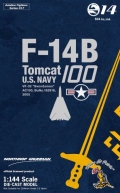 "Aviation Fighters 1/144 No.017 F-14B Tomcat VF-32 ""Swordsmen"" AC100 BuNo.162916 2005"