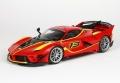 [予約]BBR MODELS 1/18 フェラーリ FXXK-EVO ダイキャスト #13 ロッソコルサ 322 ※レザー調ベース(ケース無し)