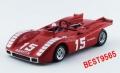 BEST MODELS(ベストモデル) 1/43 アバルト 2000 SP 1970 ニュルブルクリンク K. Ahrens Jr.  #15