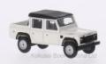 [予約]BoS Models 1/87 ランド ローバー ディフェンダー 110 ダブルキャブ ピックアップ 1990 ホワイト/マットブラック 右ハンドル