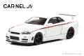 【お1人様2個まで】CAR-NEL (カーネル) 1/64 NISMO R34 GT-R Z-tune 2004 パールホワイト/with nismo stripe ※限定999台