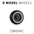 D MODEL 1/64用 ドレスアップパーツシリーズ Wheels No.4 (Silver/Black)
