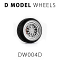 D MODEL 1/64用 ドレスアップパーツシリーズ Wheels No.4 (Silver/White)