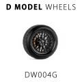 D MODEL 1/64用 ドレスアップパーツシリーズ Wheels No.4 (Black)