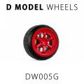 D MODEL 1/64用 ドレスアップパーツシリーズ Wheels No.5 (Red)