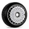 D MODEL 1/64用 ドレスアップパーツシリーズ D Model Wheels No.6 Aero(Silver/ White)